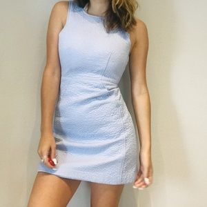 French Connections blue textured dress